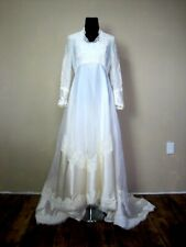 Wedding Gown Dress Vintage Victorian Fitted A Line Empire Simply Elegant Modest