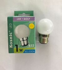 KOSNIC 1W BC/B22 LED GOLFBALL YELLOW COLOUR