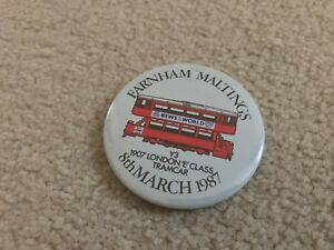 Farnham Maltings March 1987 Collectors Fair Pin Badge