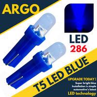 Super Bright T5 286 Led Xenon Blue Dashboard Bulbs Speedo Wedge Bulb Lights 12v