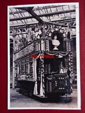 PHOTO  SHEFFIELD TRAM - (3) TRAM DECORATED ROYAL VISIT OF KING EDWARD VII & QUEE