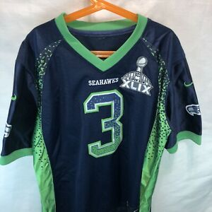 Nike On Field Seahawks Super Bowl XLIX NFL Jersey Boys XXL Wilson #3 NWT WWW16