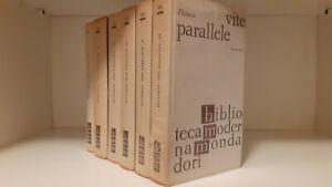 BMM. VITE PARALLELE. Vol 1, 2, 3, 4, 5, 6. Plutarco. Mondadori.