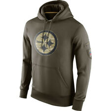 Pittsburgh Steelers Football Hoodie 2019 Salute to Service Sideline Pullover