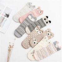 Women Girls 3D Lovely Animal Ankle Socks Cute Cartoon Animal Print Cotton Socks