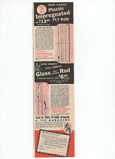 Dave Cooks Fly Rod Fishing Glass Plastic Bait Casting 1950 Vintage Print Ad 50S