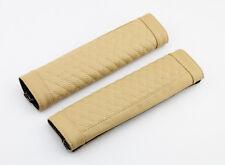 Leather Beige Car Seat Belt Shoulder Relax Cover Cushion Harness Safe Parts