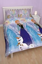 Disney Frozen 'Crystal Double Rotary Duvet Cover And Pillow case set elsa
