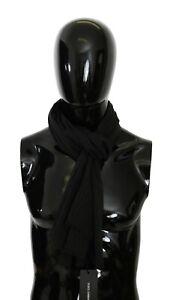 DOLCE & GABBANA Scarf 100% Silk Gray Neck Wrap Mens Shawl 180cm x 72cm RRP $350