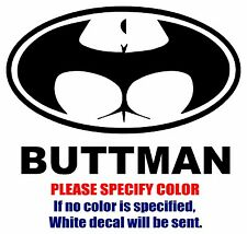 BUTTMAN Funny Vinyl Decal Car Sticker Window bumper Laptop tablet netbook 7""