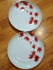 "Mikasa PURE RED SL 134 Salad Plate 8.5"" Porcelain made in portugal"