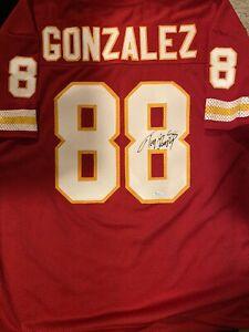 TONY GONZALEZ / NFL HALL OF FAME / AUTOGRAPHED KANSAS CITY CHIEFS CUSTOM JERSEY
