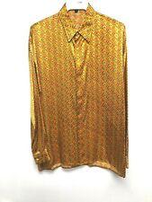 NEW Mens Creme De Silk Premium Fashion Classic Fit 100/% Silk Woven Shirt