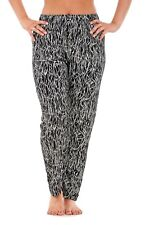 Ladies Floral Printtrousers Stretched Elasticated Summernarrow Leg HAREM Tapered Style 3 L/xl