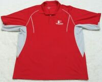 Extreme Performance Red Short Sleeve Polo Shirt Mens 2XL Top XXL Polyester Mans
