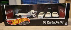 Hot Wheels Set Nissan Premium, Real Rider , Treasure Hunt, Zamac, Tomica