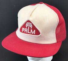 Vtg Palm Dairy Mesh Trucker Hat Snapback Patch Cap K Brand Milk Dairies 1980s