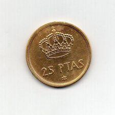 Chapado en Oro 24k de España 25 pesetas 1975 (76)