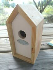 Wonderful Wren Bird House, Easy Clean out, Wood, NEW White