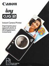NEW IN BOX Canon Ivy Cliq 2 Instant Film Camera MATTE Black 4520C004  CLIQ2