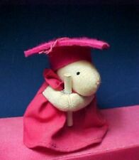 Pink Graduation Mouse with diploma in Cap and Gown