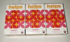 3 Helps Functional Teas~DIGEST~Anise,Chamomile & Mint~Herbal 16 Sachets 0.85 OZ