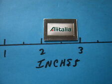 ALITALIA AIR LINES ENAMEL WORLDS GREATEST AIRLINES MINI SILVER BAR WITH COA