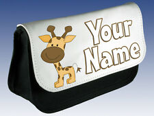GIRAFFE  PERSONALISED PENCIL CASE / DS CASE / MAKE UP BAG -  GREAT NAMED GIFT