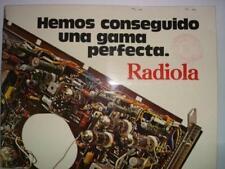 TARIFA PRECIOS RADIOLA RADIOTELEVISION Y MAGNETOFONOS