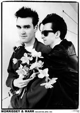 """MORRISSEY and MARR, Manchester 1982, 34"""" x 24"""" POSTER"""