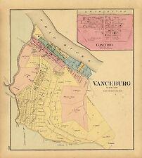 1877 map Atlas Upper Ohio River Vanceburg Concord Lewis County Kentucky 125