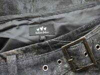 Long Grey Italian Wool Tweed Dressy Fit Flare Boho Maxi PER UNA Skirt Size 12