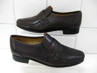 VINTAGE Mens CLARKS brown leather SLIP ONS dress smart SHOES size UK 7