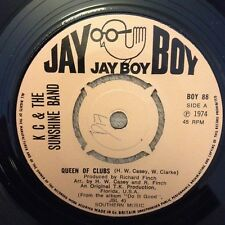 "7"" KC & THE SUNSHINE BAND QUEEN OF CLUBS  JAY BOY 1974."