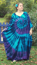 Tie Dye Caftan Poncho, Plus Size Tie Dye Dress, L XL 2X 3X Wild River