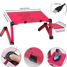Portable Laptop Stand/Schreibtisch/Tisch/Tray Notebook Lüfter & Maus Halter- Rot