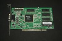 USED TRIDENT TGI 9680 2MB  PCI VGA VINTAGE GAMING VIDEO CARD WORKING H25