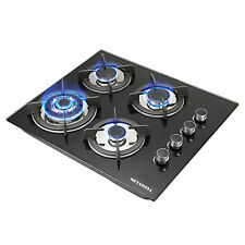 """24"""" 61cm 4Burners Built-In Ng Lpg Gas Stove Cooktop with Black Tempered Glass"""