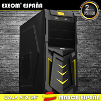 Caja ATX Ordenador Pc Gaming de Sobremesa Torre Devil Amarilla USB S/Fuente
