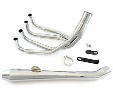 MAC 4into1 Chrome Reverse Cone Exhaust System - Honda CB500 CB550