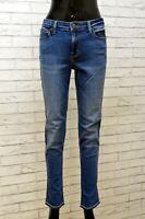 Lee Denim Jeans Slim Donna Taglia 31 Pantalone Elastico Pants Women Casual Blu