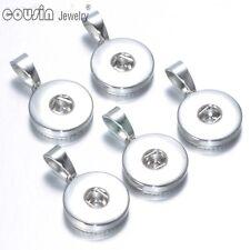20pcs/lot DIY Charms 18mm Snap Button Base Accessories Necklace Pendant FL0005