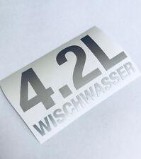 4,2 Liter Wischwasser Silber Metallic Auto Aufkleber Sticker  Shocker Tuning