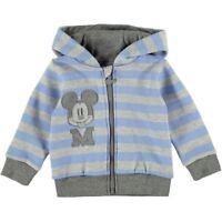 DISNEY BABY gilet pull veste sweat MICKEY 9-12 / 12-18 ou 18-24 mois bleu NEUF