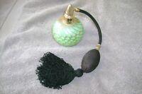 Stephen Fellerman 1985 Studio Art Glass Perfume Atomizer     Pulled Feather