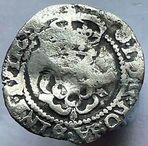 1605-06 James I (1st) Silver Hammered Half groat Rose mintmark Tower mint