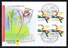 Germany 1997 cover Stamps Exhibition Kopenhagen Mi 1917 block of 4
