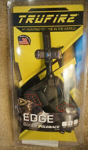TruFire Edge, Arrow Release, Black/Red Buckle Foldback Strap - EGBBLKF