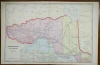 "Vintage 1901 NORTHWEST ONTARIO CANADA Atlas Map 22""x14"" Old Antique PORT ARTHUR"