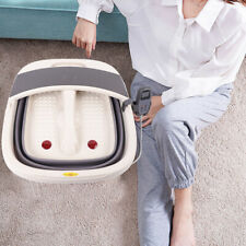 Collapsible Foot Spa Foot Massager Pedicure Tub Kit Stress Relief+Control Remote